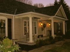 Adding a front porch to the front of your flat house