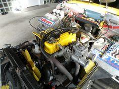 MG Midget racing engine
