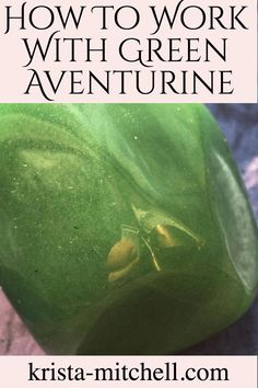 How To Work With Green Aventurine Green aventurine is an immune-boostin stone of heart health and healing, vitality, and abundance. Here's how to work with it: What Are Crystals, Crystals And Gemstones, Stones And Crystals, Gem Stones, Green Adventurine, Crystal Uses, Crystal Healing Stones, Meditation Crystals, Crystals