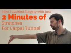 ▶ Wrist Exercises for Tendinitis Carpal Tunnel Syndrome - Avoid RSI injury in just 2 minutes a day! - YouTube