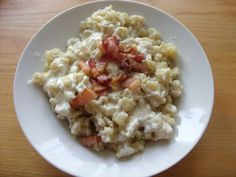 Potato dumplings with sheep cheese and bacon - Potato dumplings with sheep cheese and bacon - Sheep Cheese, Bacon Potato, Bacon Bacon, Dumplings, Risotto, Potatoes, Pasta, Healthy Recipes, Cooking
