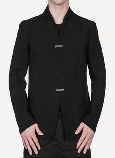 Song For The Mute - J005.BLK Raised Neck Jacket https://cruvoir.com/song-for-the-mute/2823-j005blk-raised-neck-jacket