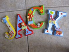 CUSTOM Hanging Wooden Wall Letters for Nursery or Child's Bedroom - Circus Theme