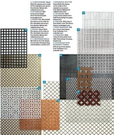 Sources for Wire Grille, Screens and Grates