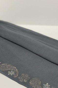Looking for Kashkha Hijabs Online? Check out this beautiful Khashkha hijab with detail wave embroidery. Hijabs, Color Show, Fabric, Tejido, Tela, Cloths, Hijab Styles, Hijab Tutorial, Fabrics