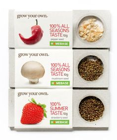 Packaging of the World: Creative Package Design Archive and Gallery: Grow Your Own (Student Work) Seed Packaging, Cool Packaging, Cosmetic Packaging, Design Packaging, Packaging Ideas, Graphic Design Branding, Corporate Design, Brochure Design, Food Design