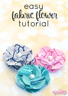 Want to learn how to make fabric flowers? Check out this Easy Fabric Flower Tutorial. You will want fabric flowers on all of your craft projects!