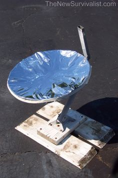 Making a parabolic cooker step 3