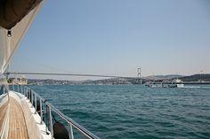 Cruising on the Bosphorus in Istanbul.