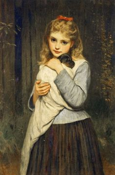 Foster Mother, 1884, by Charles Sillem Lidderdale (1830–1895)
