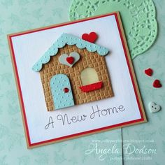 Moving house ia a hugely stressful time for many people and there's nothing nicer than when you have finally got the keys to your new front door, opening… New Home Cards, House Of Cards, Quilling, Housewarming Card, Make Your Own Card, Cricut Cards, Moving House, Card Patterns, Kids Cards