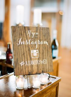 #signs, #instagram  Photography: Graham Terhune Photography - www.grahamterhune.com  Read More: http://www.stylemepretty.com/2014/12/02/classic-north-carolina-wedding-at-the-carolina-inn/