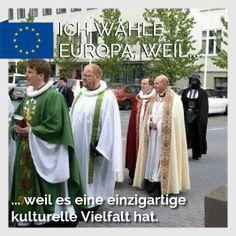 Ich wähle Europa, weil... ... weil es eine einzigartige kulturelle Vielfalt hat.  Warum wählst du Europa?