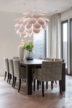 project Amstelveen the Netherlands- residence by Choc Studio Interior - dining room chairs by Pure Choc. Photography by Denise Keus. Published in Stijlvol Wonen summer 2014