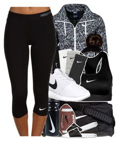 """"" by melanin-avii ❤ liked on Polyvore featuring NIKE and plus size clothing"