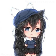 Prize for she got to her goal for the trend thing so I hope you like it! Cute Anime Chibi, Kawaii Chibi, Kawaii Anime, Kawaii Drawings, Cute Drawings, Anime Girl Brown Hair, Persona Anime, Cute Kawaii Girl, Animes Yandere