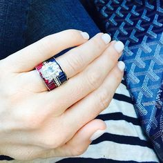It's a red, white & blue kind of day.  #patriotic #rubies #sapphires…