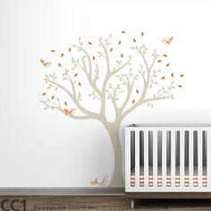 Tree Wall Decal for Baby Nursery  Tweet Tree by LeoLittleLion, $79.00