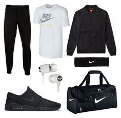 """NIKE for men"" by nokasss ❤ liked on Polyvore featuring NIKE, McQ by Alexander McQueen, men's fashion and menswear"