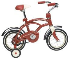 Radio Flyer Radio Flyer Classic Red 12 Inch Cruiser? Red by Radio Flyer. $99.93. From the Manufacturer                Your child will love learning to ride on his Classic Red 12 inch Cruiser™. The bike features classic style, like the one you loved as a kid! With 12 inch wheels, the bike is the perfect size for beginners. It comes with removable training wheels and a coaster brake, which is easier to use for young riders. The sturdy steel construction, padded adj...