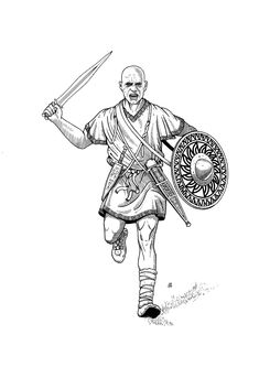 A warrior from the vetton tribe (based on the materials of the necropolis of Las Cogotas 400-201 BC). Body Action, Human Drawing, Carthage, Iron Age, Gangsters, North Africa, Enemies, Warfare, Human Body
