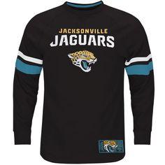Jacksonville Jaguars Majestic Big & Tall Power Hit Long Sleeve T-Shirt - Black - $49.99