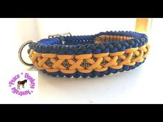 Modified Sanctified Criss Cross - adjustable paracord dog collar - YouTube