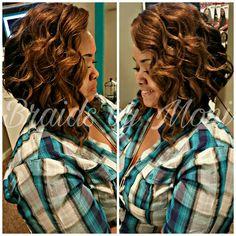 Crochet using Kima Ocean Wave hair Human Hair Crochet Braids, Curly Crochet Hair Styles, Crochet Braid Styles, Curly Hair Styles, Natural Hair Styles, Crochet Style, Crochet Weave Hairstyles, Braided Hairstyles, Bob Hairstyles