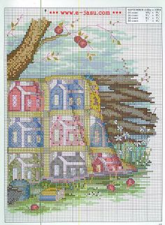 """""""September - Quilts For All Seasons"""" a cross stitch pattern by Paula Vaughan.  NOTE:  Source URL does not have this image."""