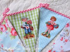 Fabric pennant garland