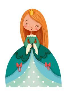 Princess Illustration, Children's Book Illustration, Botanical Illustration, Fairy Tale Illustrations, Cute Cartoon, Cartoon Art, Drawing For Kids, Art For Kids, Illustration Mignonne
