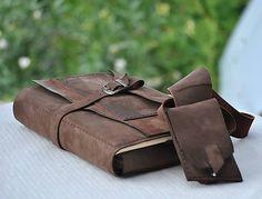 Lisbet / kožený zápisník Travel bag MOUNTAINS