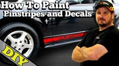 How To Paint (Pinstripes and Decals) on Car for the Artistic Challenged-...