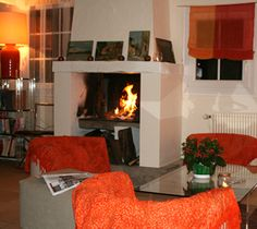 In winter, an evening in front of a cosy fire to end an active day…