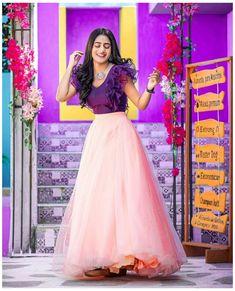 Gown Party Wear, Party Wear Indian Dresses, Designer Party Wear Dresses, Indian Fashion Dresses, Dress Indian Style, Designer Wear, Party Dresses, Lehenga Saree Design, Half Saree Lehenga