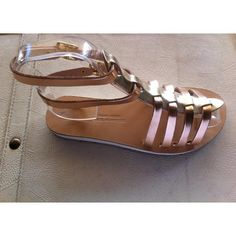 leather sandalsgladiator sandalswomen's by chicbelledejour on Etsy (€33) via Polyvore