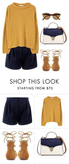 """""""Sin título #1144"""" by vivig5 ❤ liked on Polyvore featuring MANGO, Isabel Marant, Aspinal of London and Ray-Ban"""