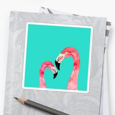 Watercolor Flamingos in love. Artist Fashion, Canvas Prints, Art Prints, Fashion Decor, Cotton Tote Bags, Tropical, Symbols, Birds, Phone Cases