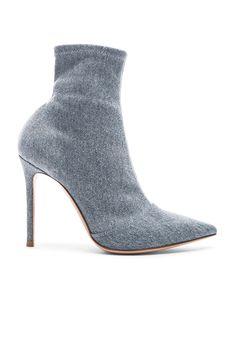 pumps ankle boots Blue stonewashed denim hi-tops