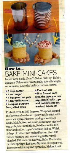 Love portion control!! Mini cakes :)