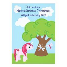 Shop Cute Unicorn Birthday Invitation created by TheCutieCollection. Unicorn Birthday Invitations, Cute Unicorn, White Envelopes, Birthday Celebration, Custom Invitations, Special Occasion, Backdrops, How To Make, Party Ideas