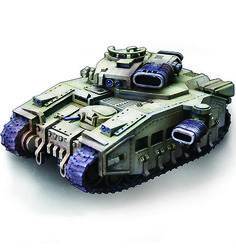 Leman Russ sized tank in the style of the Baneblade.  Made from laser cut MDF.  $58AUD https://www.miniaturescenery.com/ProductPage.asp?Code=VH1CNQTNK