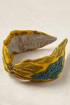 Anthropologie EU Beaded Ikat Turban Headband.