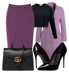"""""""Style Horoscope:Capricorn-Purple And Black"""" by theofficialfashiondreamer on Polyvore featuring True Decadence, Dolce&Gabbana, Gucci, women's clothing, women, female, woman, misses, juniors and pencilskirts"""