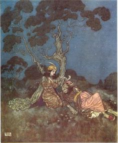 Welcome to our Beauty and the Beast illustration gallery. A beautiful collection of vintage illustrations from fairy tales of the Golden Age. Beauty and the Beast by Edmund Dulac. Edmund Dulac, Arthur Rackham, Art Et Illustration, Vintage Illustrations, Botanical Illustration, Fairytale Art, Art Nouveau, Arabian Nights, Faeries