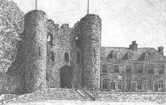 Tonbridge Castle - Pre-sightloss artwork by Arthur Ellis