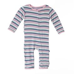 Kickee Pants Girl Space Stripe Coverall