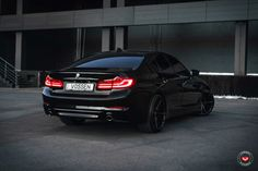 The all-new BMW 5 Series might be an understated business sedan, but thanks to the aftermarket industry, that changes rather quickly. Bmw Car Models, Bmw Cars, Street Tracker, Triumph Bonneville, Honda Cb, Luxury Car Brands, Luxury Cars, Bmw E46, Bmw 5 Series