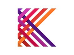 New logo for a clothing and textile manufacturer whose name starts with the letter K. The weaved pattern originated from the way in which looms produce cloth; weaving threads together to create f...