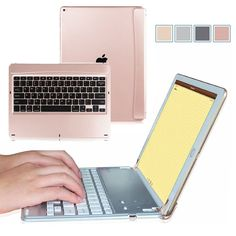 For New iPad Pro 12.9 2017 / Pro 9.7 Multi-Angle Bluetooth Keyboard Case Cover